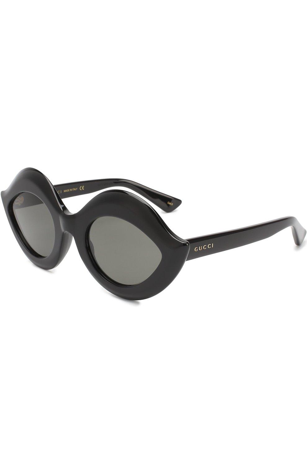 Женские солнцезащитные очки GUCCI черного цвета, арт. 0085 002 | Фото 1