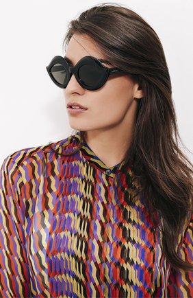 Женские солнцезащитные очки GUCCI черного цвета, арт. 0085 002 | Фото 2