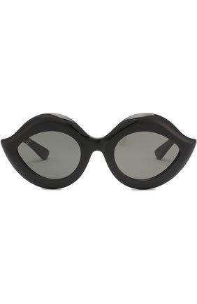 Женские солнцезащитные очки GUCCI черного цвета, арт. 0085 002 | Фото 3