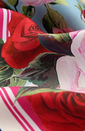 Шелковый платок с принтом Dolce & Gabbana синий | Фото №3