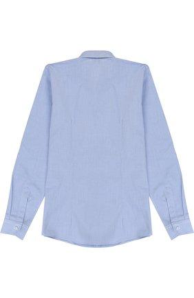 Детская хлопковая рубашка с воротником кент DAL LAGO темно-синего цвета, арт. N402/1167/7-12 | Фото 2
