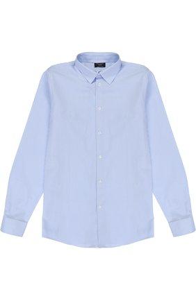 Детская хлопковая рубашка в клетку DAL LAGO светло-голубого цвета, арт. N402/2206/XS-L | Фото 1