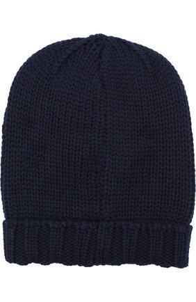 Шерстяная шапка с нашивками Dolce & Gabbana синего цвета | Фото №2