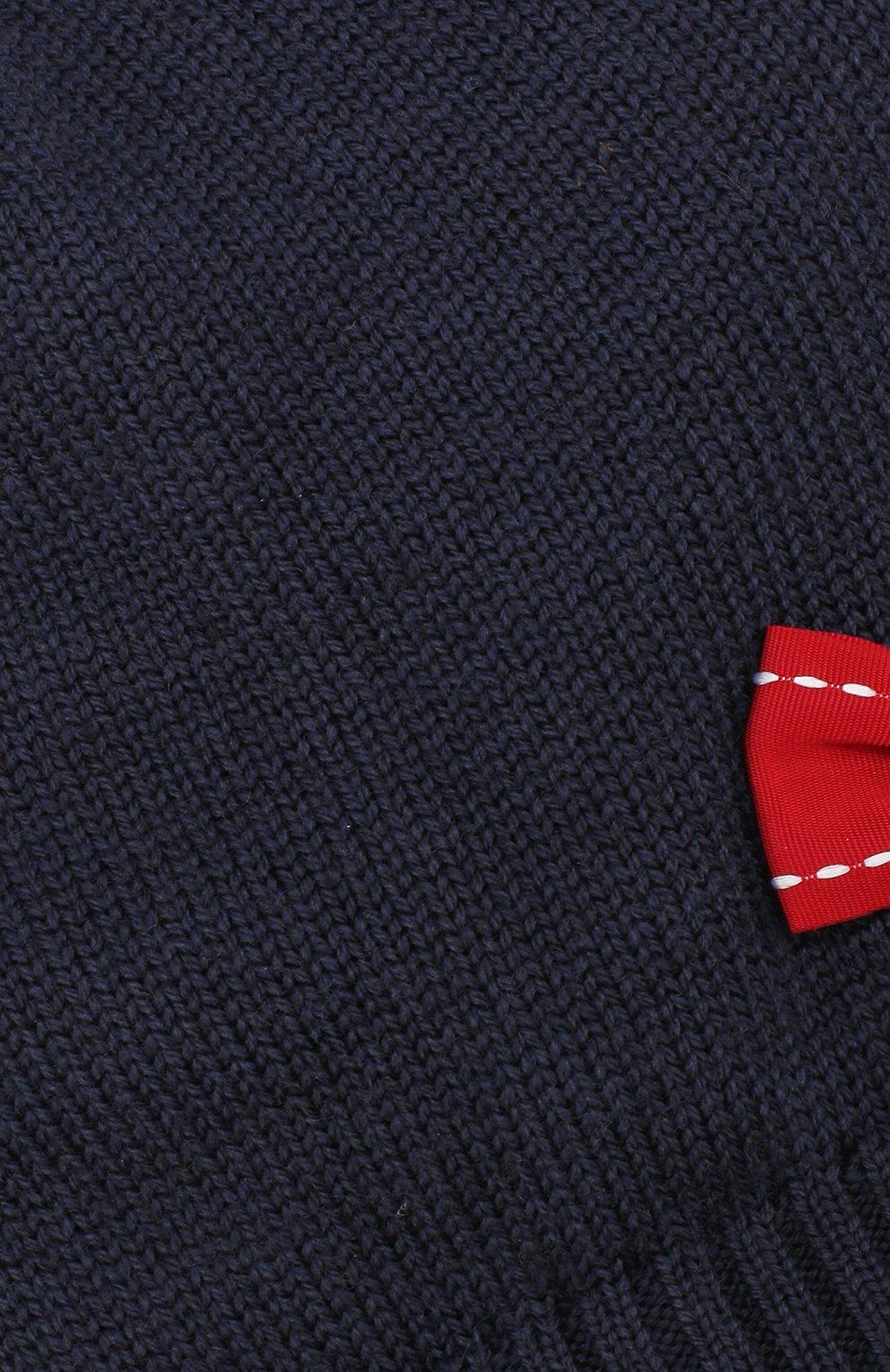 Шерстяная шапка с бантом Dolce & Gabbana темно-синего цвета | Фото №3