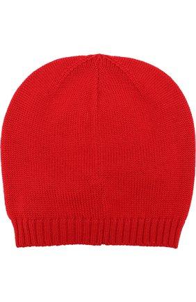 Шерстяная шапка с бантом Dolce & Gabbana красного цвета | Фото №2
