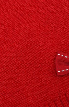 Шерстяная шапка с бантом Dolce & Gabbana красного цвета | Фото №3