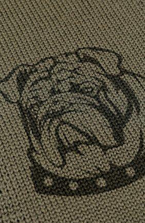 Шерстяной шарф с принтом | Фото №2