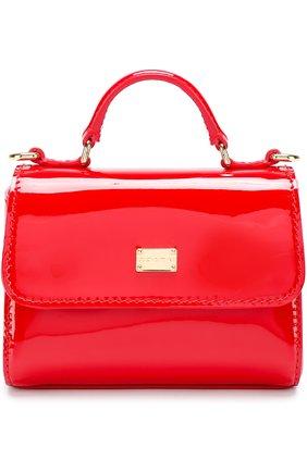 Сумка из лаковой кожи Dolce & Gabbana красного цвета | Фото №1
