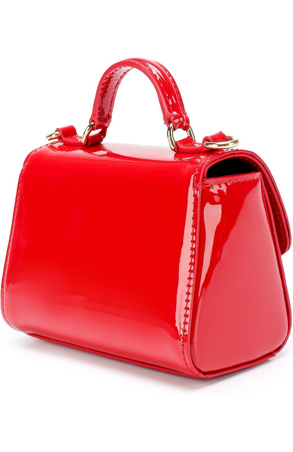 Сумка из лаковой кожи Dolce & Gabbana красного цвета | Фото №2