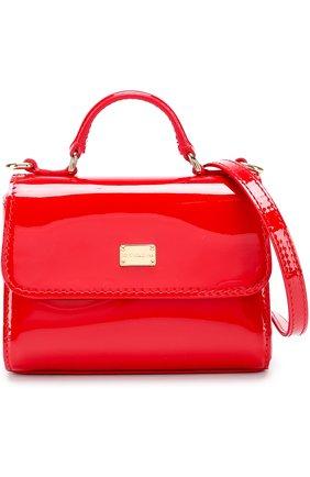 Сумка из лаковой кожи Dolce & Gabbana красного цвета | Фото №4