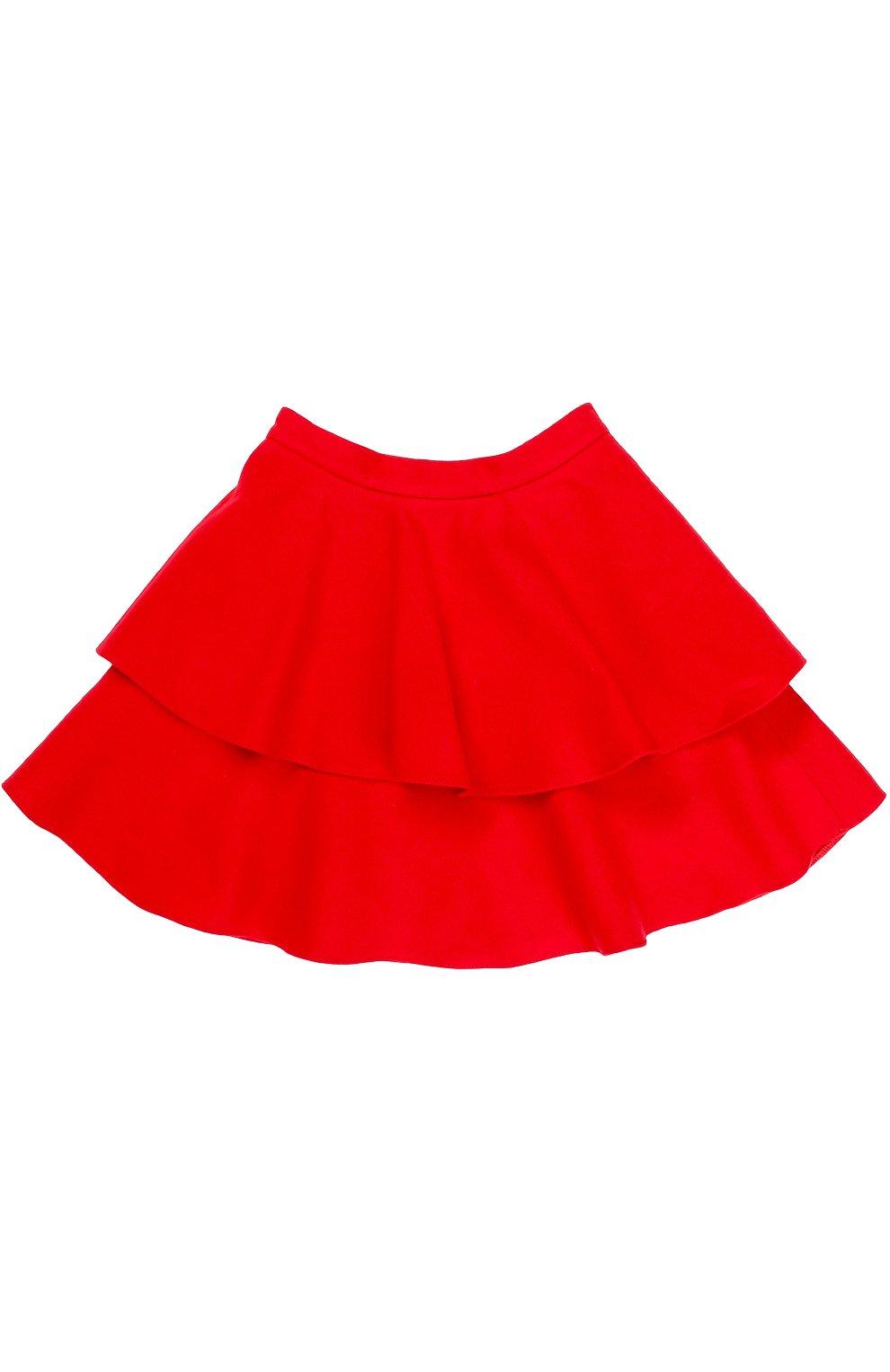 Двухъярусная мини-юбка из шерсти | Фото №1