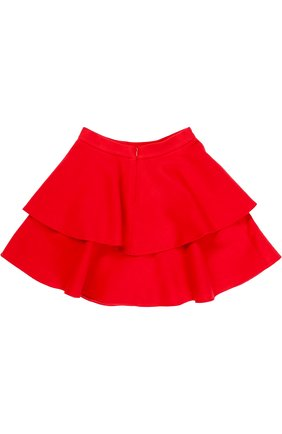 Двухъярусная мини-юбка из шерсти | Фото №2