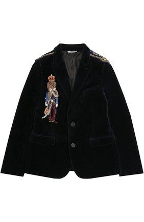 Хлопковый костюм с вышивкой и декором на плечах | Фото №2