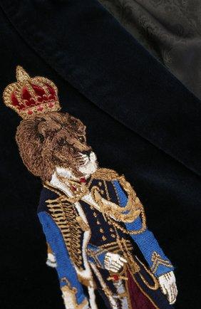 Хлопковый костюм с вышивкой и декором на плечах | Фото №6