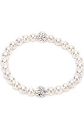 Браслет Remix Collection White Crystal Pearl Swarovski белый | Фото №1