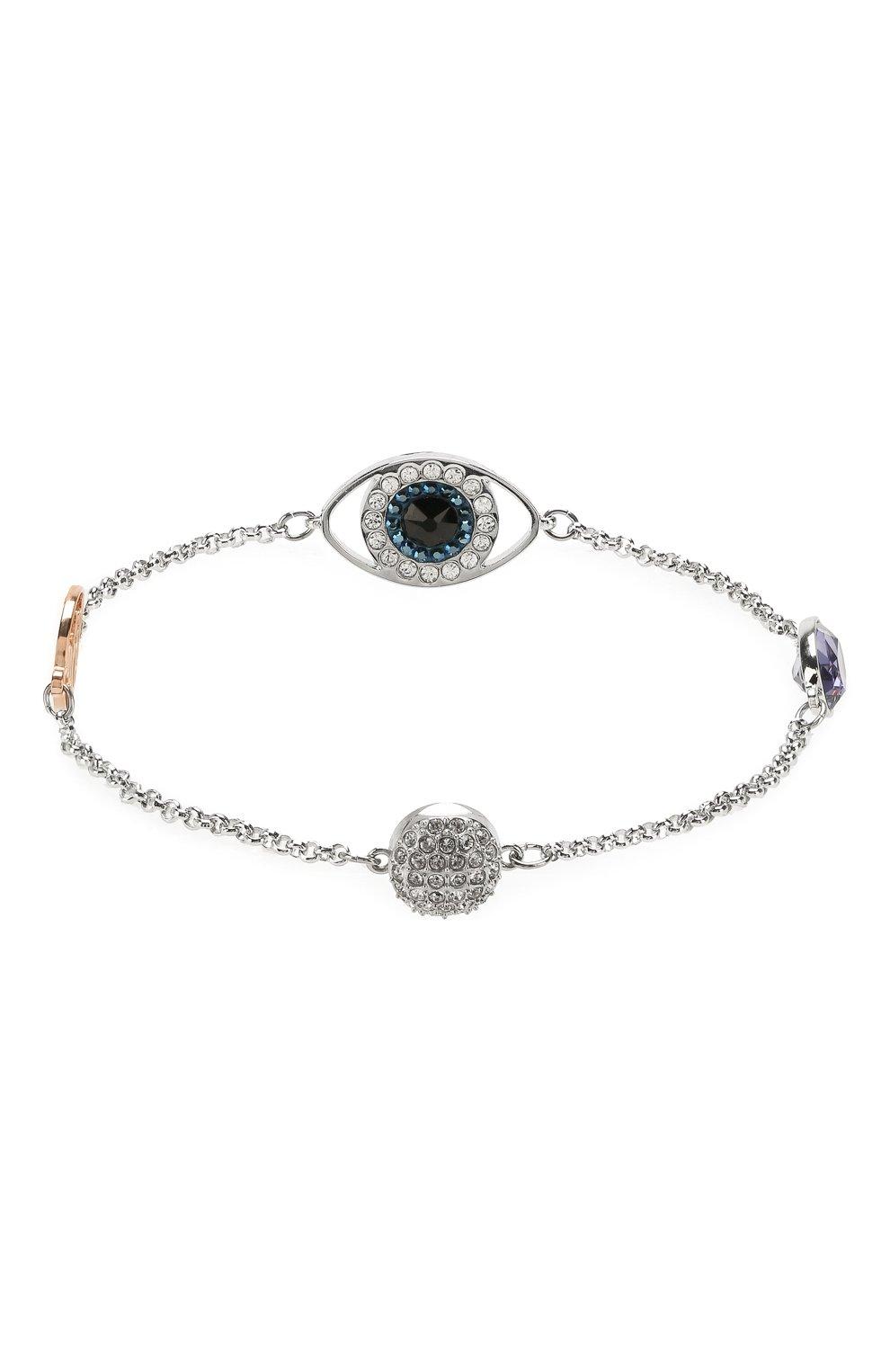 Браслет Remix Collection Eye Symbol Swarovski серебряный   Фото №2