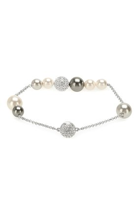 Женский браслет remix collection mixed gray crystal pearl SWAROVSKI серебряного цвета, арт. 5365739 | Фото 2