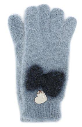 Вязаные перчатки с бантом | Фото №1