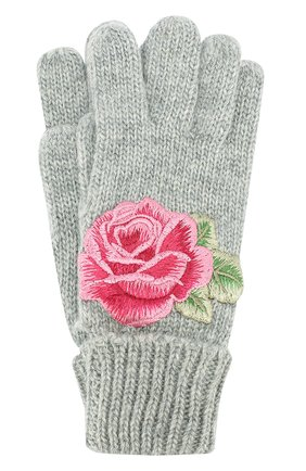 Вязаные перчатки с аппликацией | Фото №1