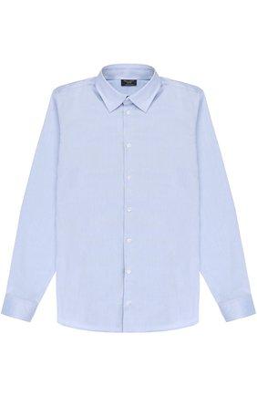 Детская хлопковая рубашка прямого кроя DAL LAGO синего цвета, арт. N402/1165/XS-L | Фото 1