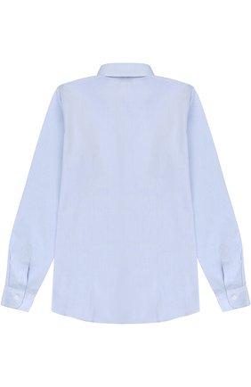 Детская хлопковая рубашка прямого кроя DAL LAGO синего цвета, арт. N402/1165/XS-L | Фото 2