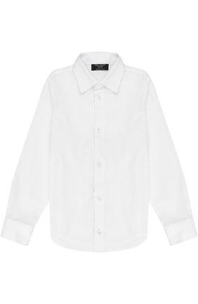 Детская хлопковая рубашка прямого кроя DAL LAGO белого цвета, арт. N402/7317/4-6 | Фото 1