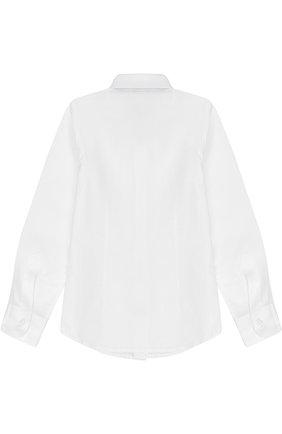 Детская хлопковая рубашка прямого кроя DAL LAGO белого цвета, арт. N402/7317/4-6 | Фото 2