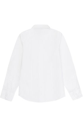 Детская хлопковая рубашка прямого кроя DAL LAGO белого цвета, арт. N402/7915/XS-L | Фото 2