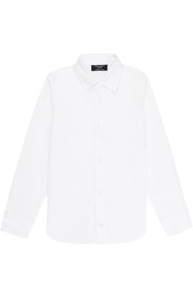 Детская хлопковая рубашка прямого кроя DAL LAGO белого цвета, арт. N402/7915/XS-L | Фото 1