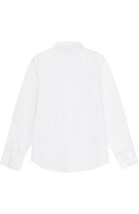 Детская хлопковая рубашка прямого кроя DAL LAGO белого цвета, арт. N402/1167/4-6 | Фото 2