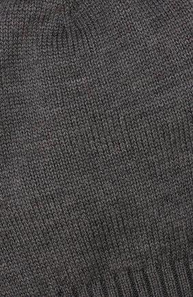 Шерстяная шапка с помпоном Dolce & Gabbana серого цвета | Фото №3