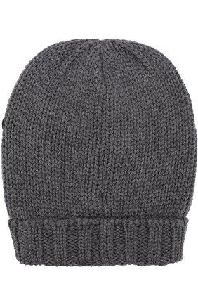 Шерстяная шапка с нашивками Dolce & Gabbana серого цвета | Фото №2