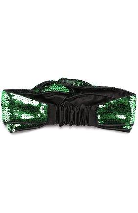 Детская повязка на голову с пайетками GUCCI зеленого цвета, арт. 473602/4K504 | Фото 2 (Материал: Текстиль, Синтетический материал; Статус проверки: Проверено, Проверена категория)