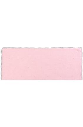 Шерстяное одеяло с фактурной отделкой Baby T розового цвета | Фото №1