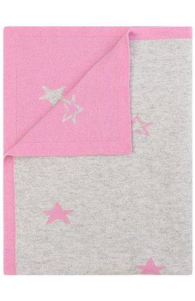 Детского одеяло из смеси шерсти и кашемира с принтом BABY T серого цвета, арт. 17AI172C0 | Фото 2