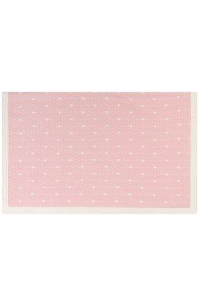Кашемировое одеяло с принтом Baby T розового цвета | Фото №1