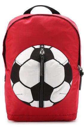 Рюкзак с контрастной отделкой Dolce & Gabbana красного цвета   Фото №1