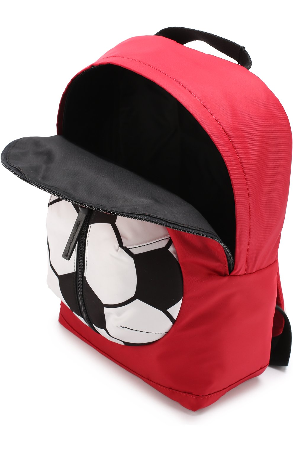 Рюкзак с контрастной отделкой Dolce & Gabbana красного цвета   Фото №3