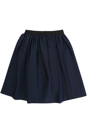 Мини-юбка свободного кроя с эластичным поясом   Фото №1