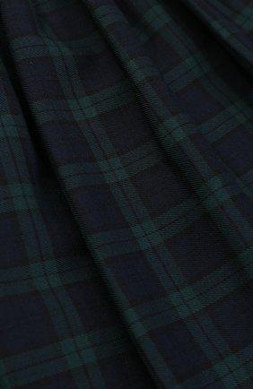 Шерстяная мини-юбка в клетку с эластичным поясом | Фото №3