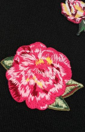 Детский шерстяной шарф с аппликациями DOLCE & GABBANA черного цвета, арт. 0131/LB6A36/LK5V0 | Фото 2 (Материал: Шерсть; Статус проверки: Проверена категория, Проверено)