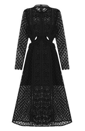 Полупрозрачное кружевное платье-миди | Фото №1