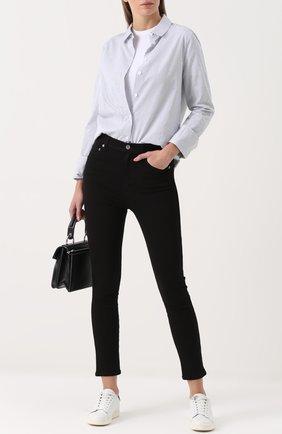 Укороченные джинсы-скинни Agolde черные | Фото №1