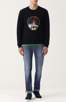 Шерстяной свитер с принтом | Фото №2