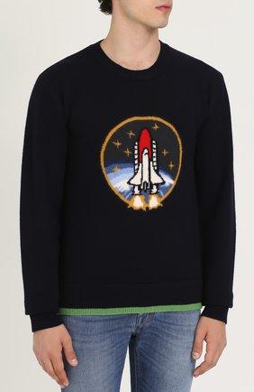 Шерстяной свитер с принтом | Фото №3