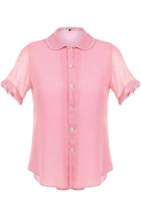 Блуза с коротким рукавом и отложным воротником | Фото №1