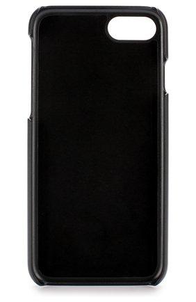 Кожаный чехол для iPhone 7 с аппликацией Dolce & Gabbana    Фото №2