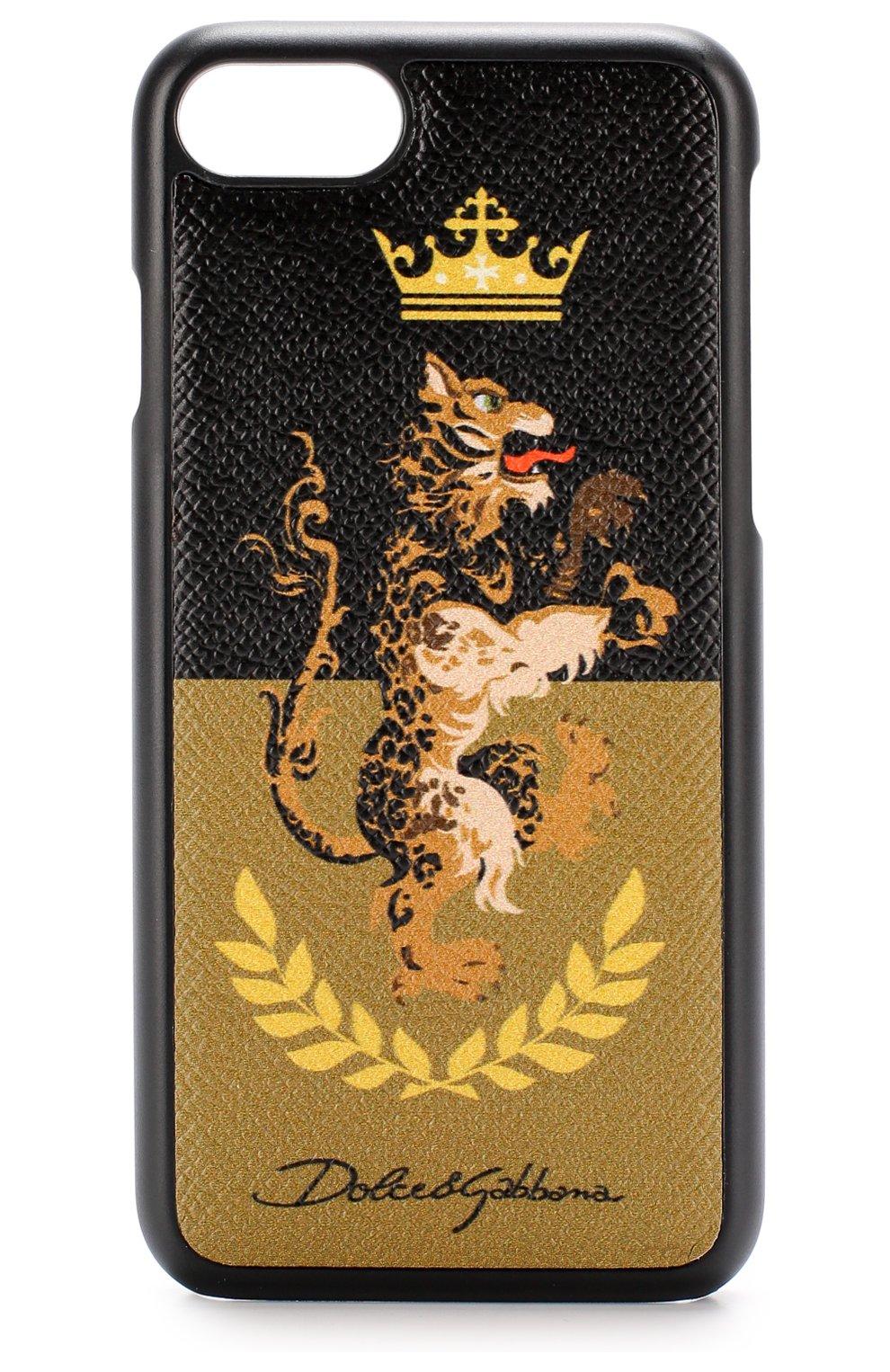 Кожаный чехол для iPhone 7 с принтом | Фото №1