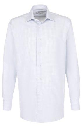 Мужская сорочка из смеси хлопка и шелка BRIONI светло-голубого цвета, арт. RCL9/0602Q | Фото 1