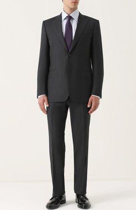Мужская сорочка из смеси хлопка и шелка BRIONI светло-голубого цвета, арт. RCL9/0602Q | Фото 2